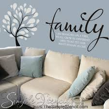 Modern Tree Vinyl Wall Decal Sticker The Simple Stencil Trees For Your Wall