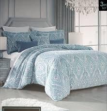 queen duvet cover set ornate geometric