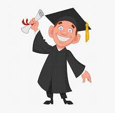 College Graduation Clipart - University Student Cartoon Png , Free ...