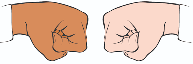 Image result for fist bump cartoon