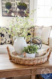 spring coffee table decor see how they