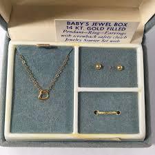 ring earrings necklace newborn girl