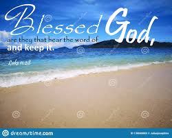blessed are they that hear the word of god background ocean