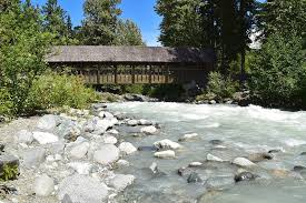 Covered Bridge over stream in Whistler BC Photograph by Ivan Wright