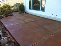 colored concrete patio cement amusing