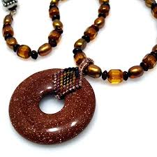 beaded bail for donut with images