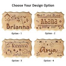 Wooden Baby Name Sign For Nursery Personalized Wooden Signs For Home Usa Woodgeekstore