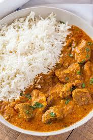 indian lamb curry dinner then dessert