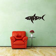 Pvc Cartoon Shark Wall Stickers Creative Letters Art Mural Bedroom Kids Room And Living Room Decorative Wall Decal Removable Stickers For Wall Decoration Stickers For Walls From Jy9146 3 77 Dhgate Com