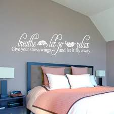 Breathe Let Go Relax Wall Decal Bathroom Wall Stickers Bath Wall Quotes Ebay