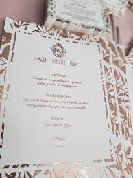 Tarjeta Invitacion Foil Rose Gold Boda Casamiento Novios 95 00