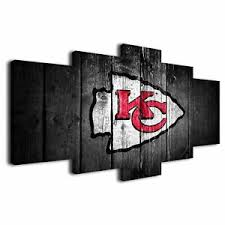 Kansas City Chiefs 5pcs Hd Canvas Prints Painting Home Decor Picture Wall Art Ebay