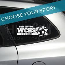 Window Sticker Car Decal Sports Decal Custom High School Etsy