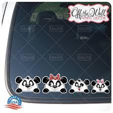 Peek A Boo Panda Bear Family Stick Figure Car Decal Sticker Etsy