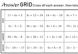 2 step linear equations non calculator
