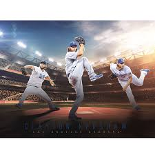 Clayton Kershaw Los Angeles Dodgers Fathead Giant Removable Wall Mural