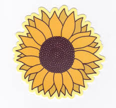 Sunflower Vinyl Sticker Nice Lena