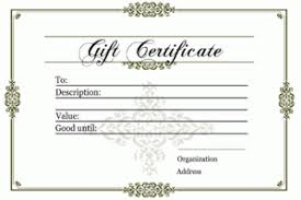 gift certificate templates printable