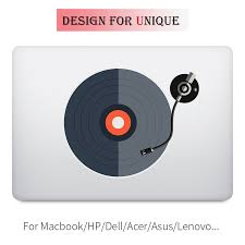 Dj Record Player Colorful Laptop Sticker For Apple Macbook Decal Pro Air Retina 11 12 13 15 Inch Vinyl Mac Mi Surface Book Skin Sticker For Apple Macbook Laptop Stickerapple Stickers For Macbook Aliexpress