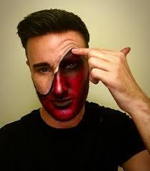 devil makeup male makeup