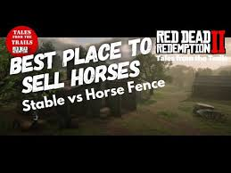 Red Dead Redemption 2 Best Place To Sell Horses Selling To The Stables Or The Fence Youtube