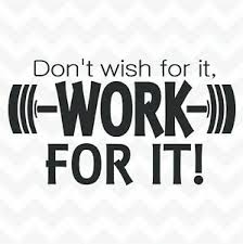 Don T Wish For It Work For It Vinyl Wall Sticker Motivational Fitness Weights Ebay