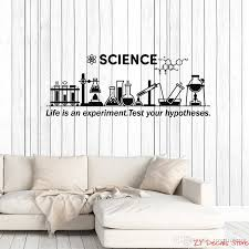 Vinyl Wall Decal Science Inspire Chemical Lab School Classroom Decor Stickers Mural Removable Art Mural For Living Room Large Wall Decal Large Wall Decals From Joystickers 8 96 Dhgate Com