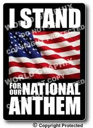 I Stand For National Anthem Car Window Decal Bumper Sticker Pro Football Us Flag Ebay