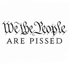 We The People Are Pissed Patriotic Vinyl Sticker Car Decal