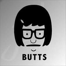 Tina Belcher Butts Bob S Burger Vinyl Decal Sticker Funny Car Truck Laptop Wall Ebay