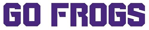 Ncaa0523 Tcu Horned Frogs Go Frogs Logo Die Cut Vinyl Graphic Decal Sticker Ncaa