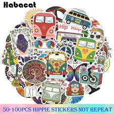 Wall Decals Stickers Peace Guitar Woodstock Hippie Car Vinyl Decal Laptop Sticker Graphic 5 X4 4 Home Furniture Diy Tallergrafico Com Uy