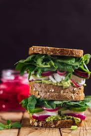 feta cheese sandwich with herbs give