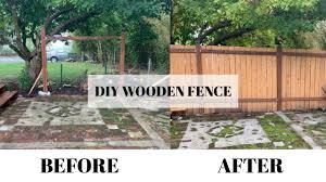 How To Build A Wood Fence Simple Cheap Beginner Diy Youtube