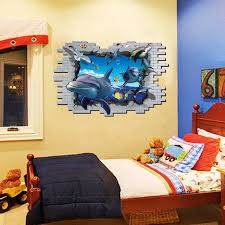 Only Furniture Extraordinary Bedroom Wall Art Stickers Great White Shark Jaws Wall Decal With Custom Name Boys Art Wall Stickers Extraordinary Bedroom Home Furniture