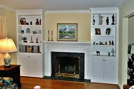 either side fireplace bookshelves