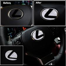 Lexus Car Interior Steering Wheel 3d Diamond Decal Sticker Badge Decor Us85 Com