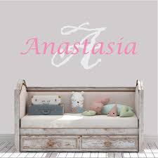 Amazon Com Girl S Custom Name And Initial Wall Decal Choose Your Own Name Initial And Letter Styles Multiple Sizes Wall Decal Vinyl Wall Stickers For Kids Girl S Name Girl S Nursery Wall Decor Wall