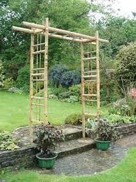 Bamboo Pergola Arbor 3 Feet Wide Bamboo Garden Fences Outdoor Pergola Bamboo Trellis
