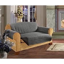 Elegant Comfort Quilted Reversible Furniture Protector Pet Dog Children Kids Ties To Prevent Slipping Off Loveseat Size Gray Black Walmart Com Walmart Com