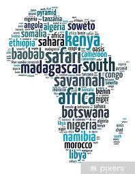 Words Illustration Of Africa Continent Map Over White Background Wall Mural Pixers We Live To Change