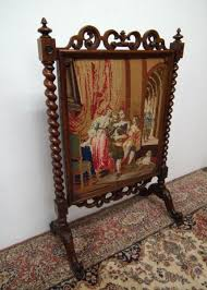early victorian rosewood fire screen