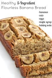 5 ing flourless banana bread