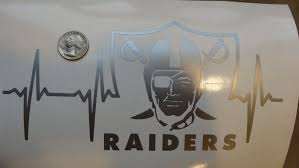 Oakland Raiders Life Car Decal Oakland Raiders Raiders Car Decals