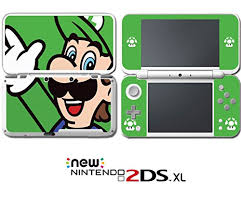 New Super Mario Bros Luigi Special Edition Video Game Vinyl Decal Skin Sticker Cover For Nintendo New 2ds Xl System Console Wantitall