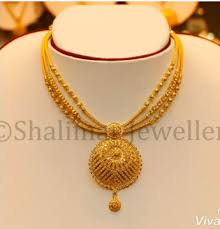 gold big pendant necklace designs the
