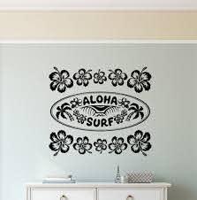 Bay Isle Home Hawaiian Hibiscus Aloha Surf Sign Vinyl Words Wall Decal Wayfair