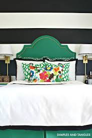 an upholstered headboard diy tutorial