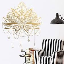 Mandala Lotus Vinyl Wall Stickers Unique Home Decor Bedroom Removable Wall Decal Yoga Studio Self Adhesive Art Sticker Jw312 T200601 Removable Stickers For Wall Decoration Removable Stickers For Walls From Xue10 33 62
