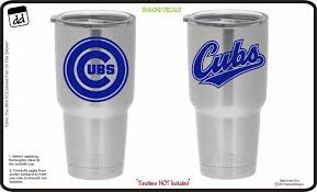 Chicago Cubs Fan Gear Set Of 2 Vinyl Decals For Yeti Tumblers Mlb Baseball New Diamonddecals Yeti Cup Decal Vinyls Diamond Decals Yeti Cup Designs